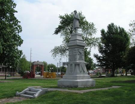 The Civil War monument in Chandler Park
