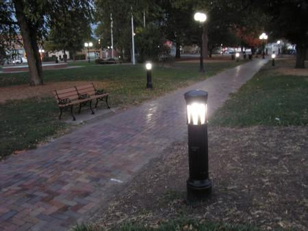 Bollards are already installed in the southern part of Chandler Park