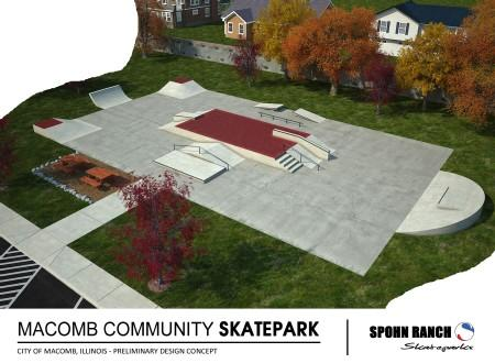A drawing of the new skate park