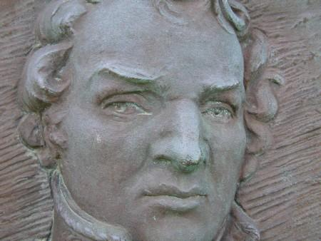 The image of General Macomb from the Chandler Park monument