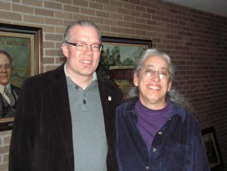 Amy Valens (right) with Jim La Prad