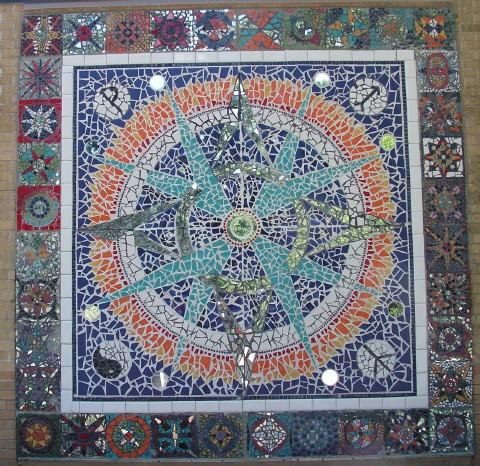 A closer view of the mandala