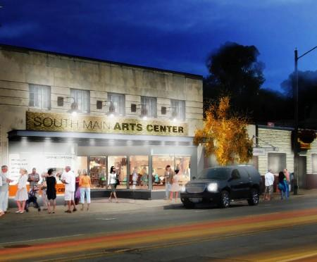 An artist's rendition of the renovated building's exterior