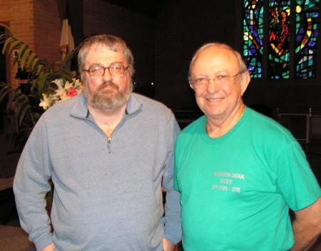 McDonough Choral Society members Larry Jarvis (left) and Larry Rawlins