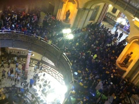 Protesters Swarmed the Illinois Capitol