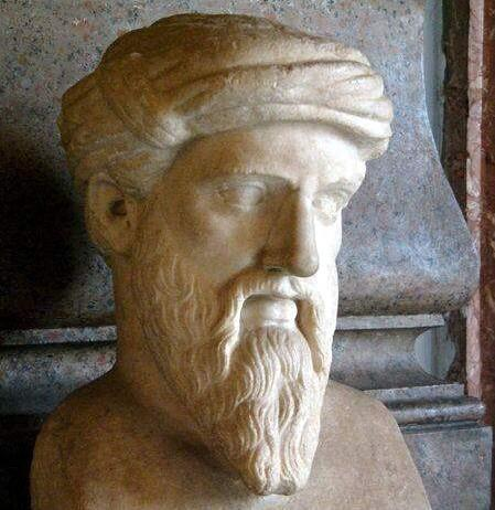 Greek mathematician Pythagoras (c.570-c.495 BC). Photo courtesy of Wikipedia.