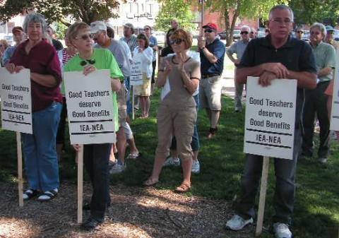 """Protect Our Pensions"" Rally"
