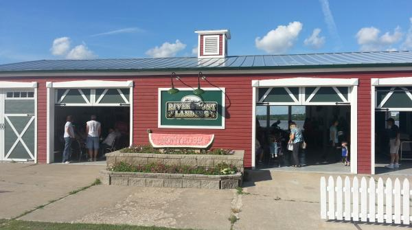 A highlight of the transformation along Montrose's riverfront is the pavilion where the farmer's markets are held.
