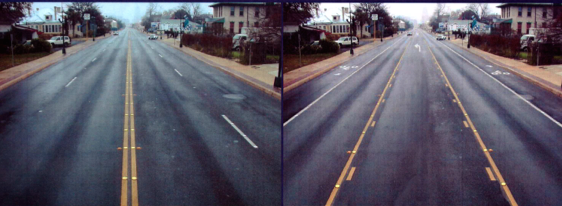 A depiction of how Fremont will change, before on the left, and after on the right.
