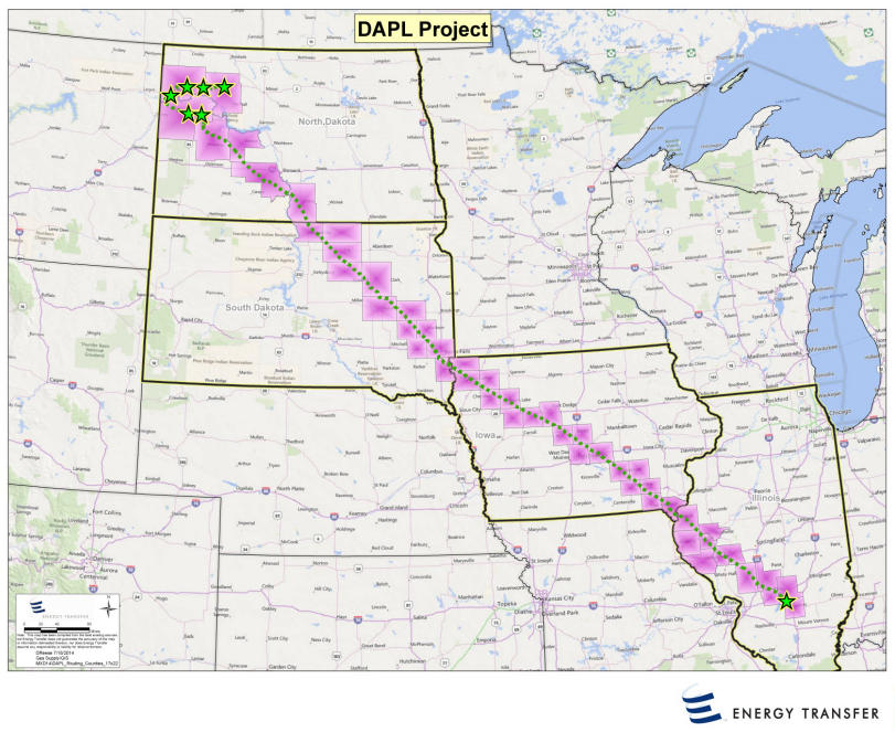 Crude Oil The Dakota Access Pipeline A Closer Look Tri States - A map with all pipelines in the us