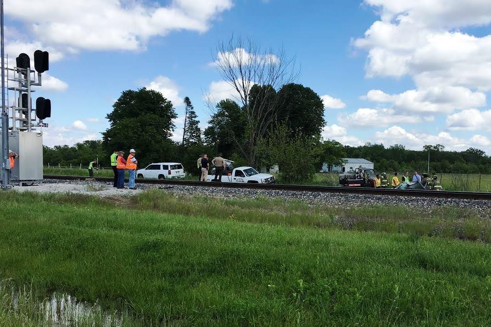 One dead, one injured in crash involving Amtrak train