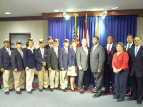 Mayor Alvin Brown meets with local veterans and their supporters to announce this years veterans summit will focus on the veterans' suicide rate.