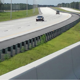 The first cars ever to drive on the newly opened Florida State Road 9B.