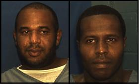 Joseph Jenkins, left, and Charles Walker. The two convicted killers and former fugitives were among six men charged today with conspiracy to escape prison.
