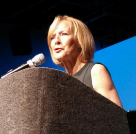 "Judy Woodruff spoke Monday morning at the ""9 in 15"" event held at the WJCT Studios."