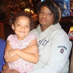 Onnika Fisher sitting with her mother, Charity Chatman. They were discovered in Georgia more than 240 miles from Jacksonville on Sunday evening.