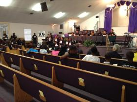 The Save Our Sons forum was held at St. Paul Missionary Church in Northwest Jacksonville Tuesday evening.