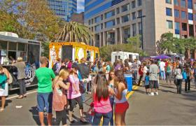 Food trucks at the 2013 Fall Food Festival in the downtown Jacksonville.