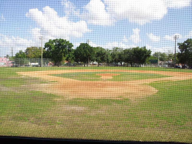 The baseball field of J.P. Small Park