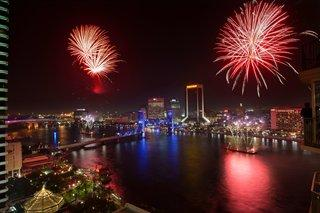 downtown  Jacksonville fireworks