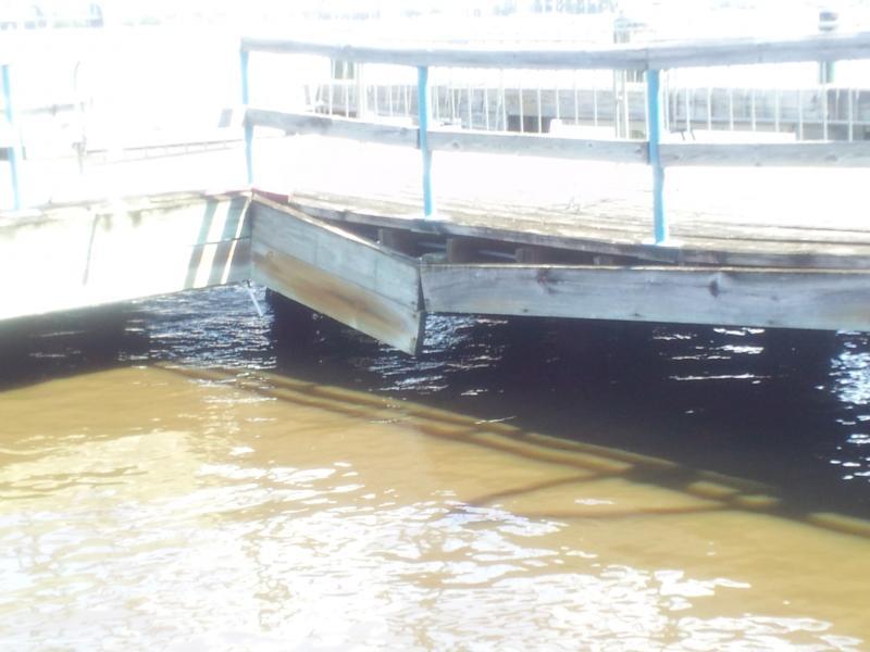 Damage to the Riverwalk