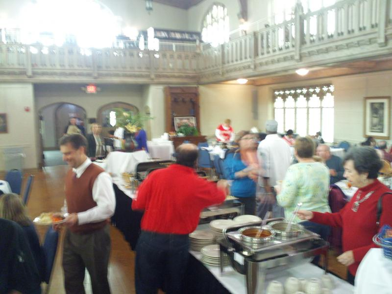 The Clara's at the Catherdral weekly luncheon buffet is a big hit every Friday.