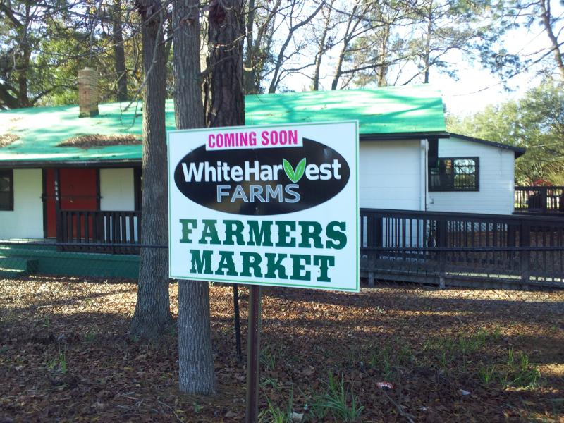 The White Harvest Farmers Market is expected to open in a couple of months.