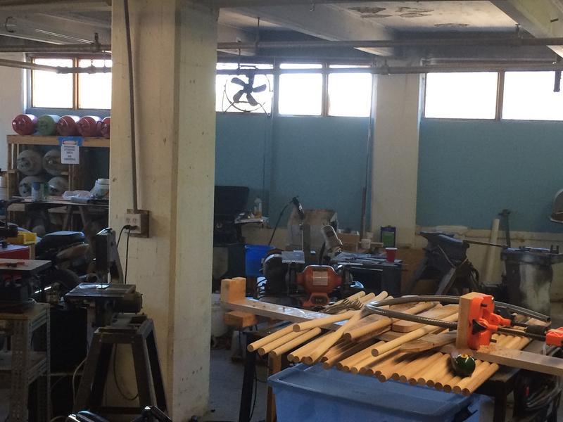 The woodworking lab at Jax Hax.