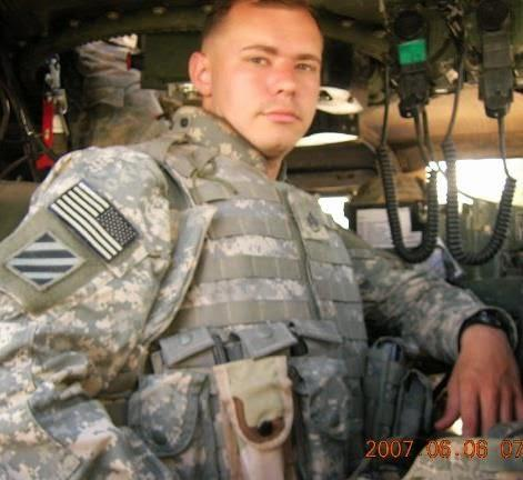 U.S. Army Staff Sergeant (Ret.) Jon Dykes on duty in Iraq.