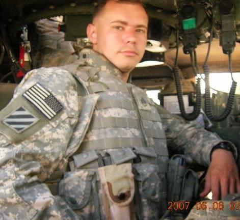 U.S. Army Staff Sergeant (Ret.) Jon Dykes on duty in Iraq.