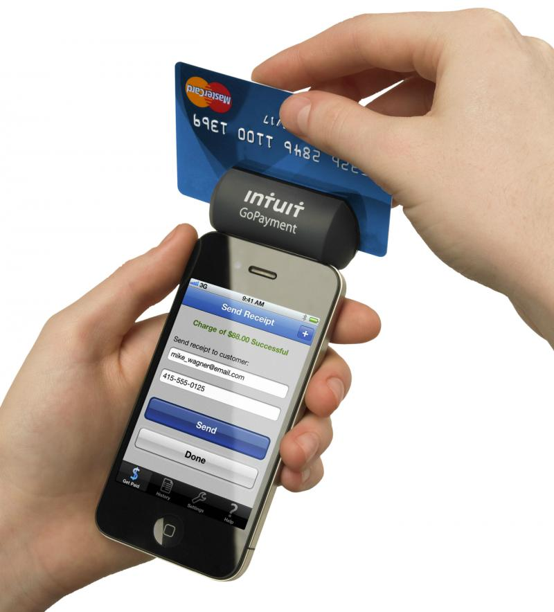 Intuit, makers of Quicken and QuickBooks, also makes the GoPayment credit card reader.