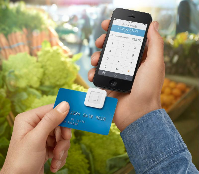 Square pioneered mobile credit card payments with their credit card reader.