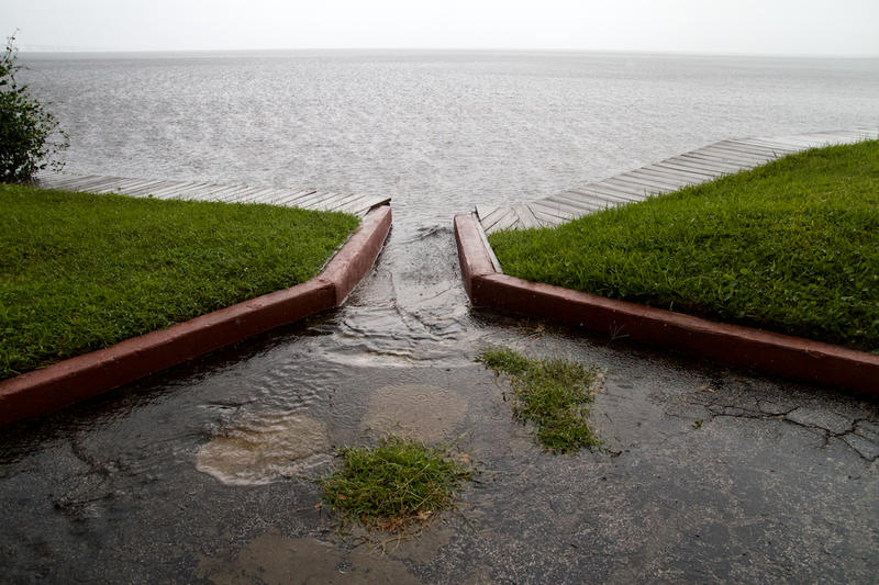 Stormwater drainage is often rushed straight into the St. Johns River, like this site in Orange Park.