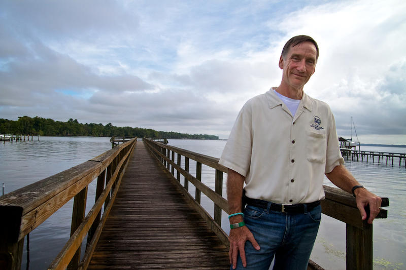 Derek Busby, an official at the St. Johns River Water Management District, develops strategies for keeping nutrients out of the St. Johns River.