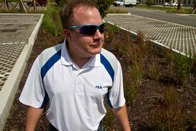 """John Young planned the NAS Jax's """"low-impact development"""" approach to stormwater."""