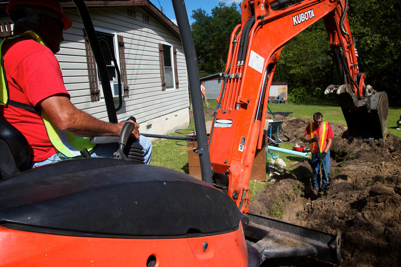 JEA and the City of Jacksonville are installing new sewer lines for residents with problem septic tanks.