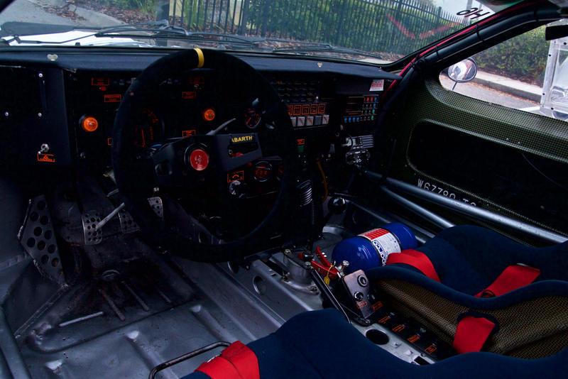 Inside the Lancia 037.