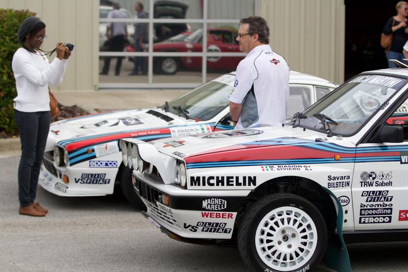 Campion and his rally cars.