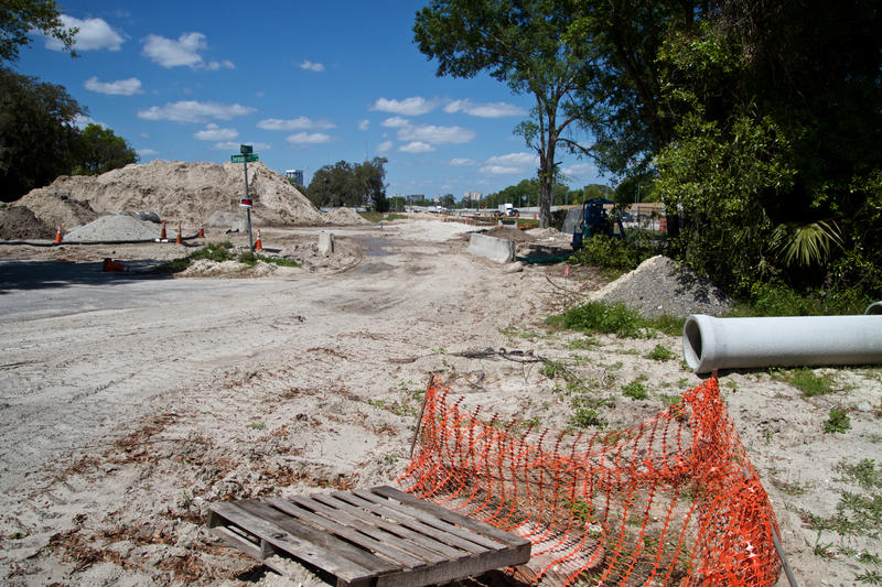 The Florida Department of Transportation bought 24 houses near the church and razed them to create a drainage pond for the I-95 Overland Bridge project.