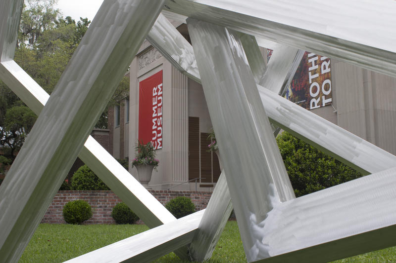 """Equal Point"" sculpture adds depth to the lawn in front of the Cummer Museum."