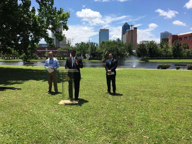 press conference in park