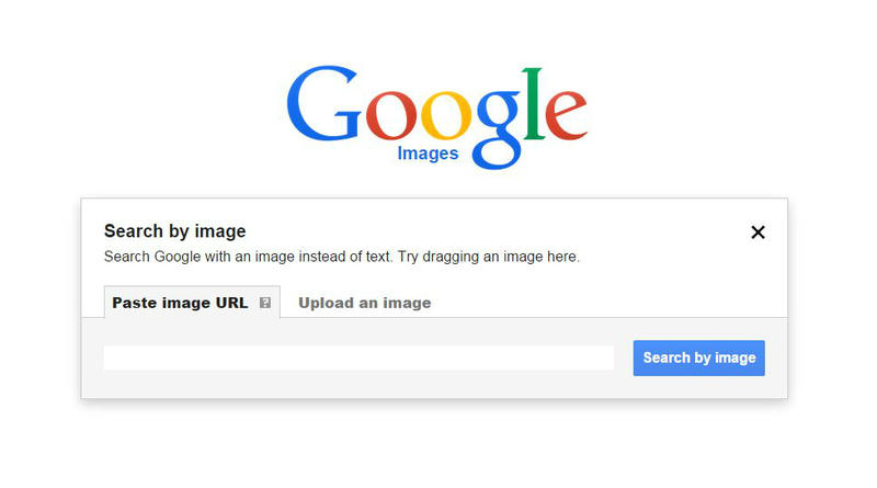 "Google's ""search by image"" page."
