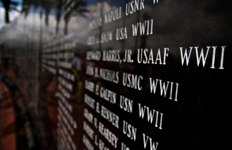 The Duval County Veterans Memorial Wall.