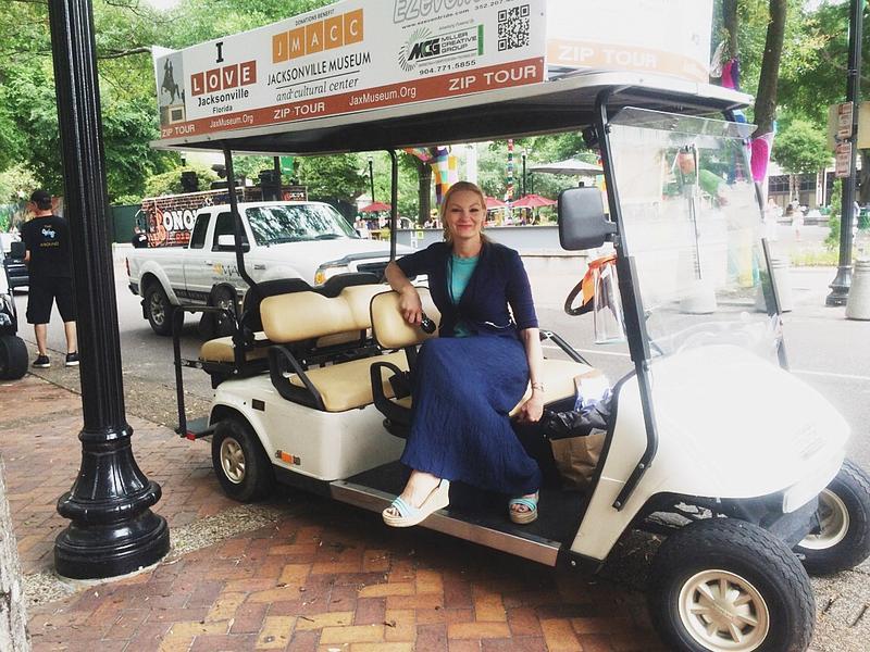 JHill on golf cart