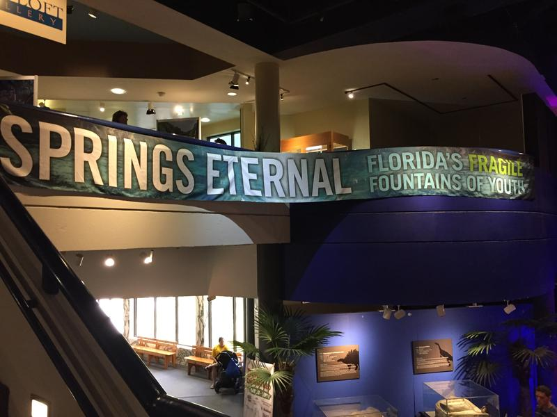The entrance to the museum's third-floor springs exhibit.