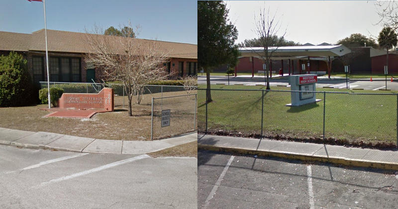 This past school year one Thomas Jefferson Elementary School (left) teacher was charged with molesting a third-grader and three Westside High (right) employees allegedly had sex with students.