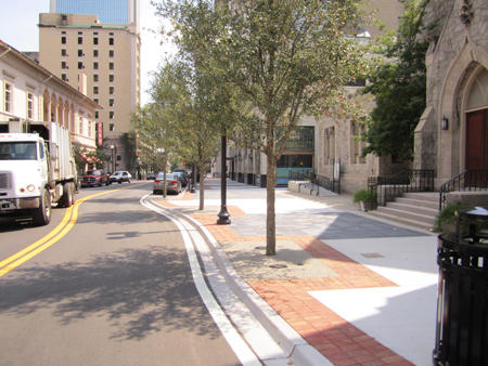 Laura Street sidewalk