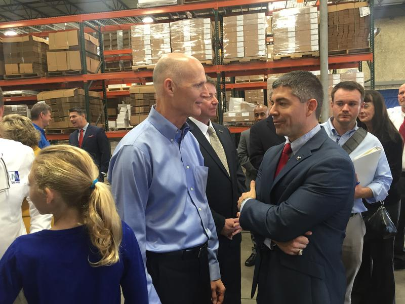 Gov. Rick Scott was joined by business leaders to extol the sensibility of his $1 billion tax cut proposal.