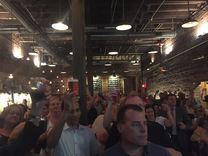 More than 200 people join the Jacksonville Historical Society in celebrating the city's beer history Tuesday night at Aardwolf.
