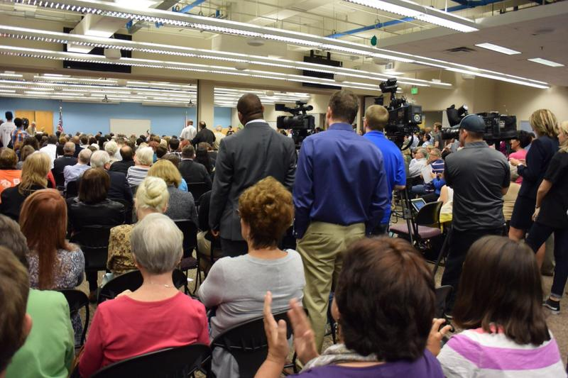 An overflow crowd showed up at FSCJ Downtown Campus for the first community conversation about the need for a more inclusive non-discrimination ordinance.